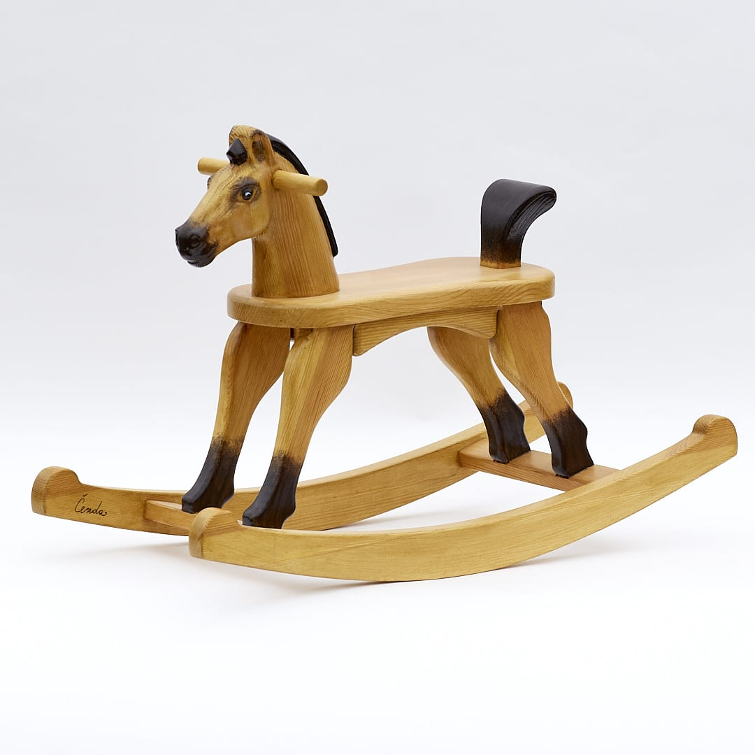 Koník na houpadlech se sedátkem ve výšce 28 cm, plavák