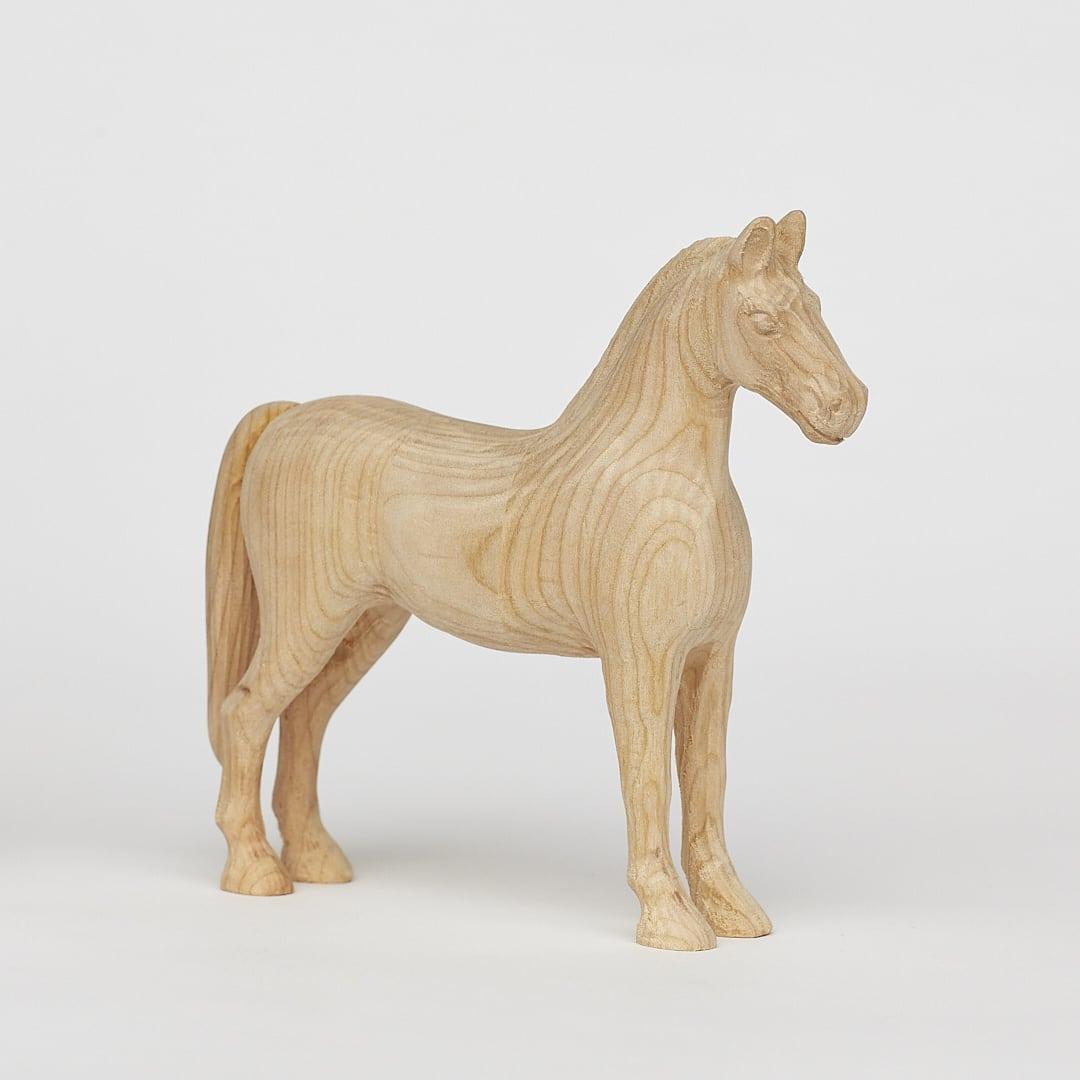 Einzigartiges kleines Holzpferd.