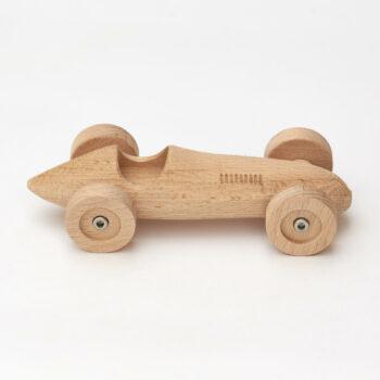 Rennwagen aus Buchenholz